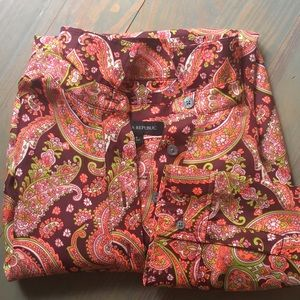 Silky Banana Republic Collared Mini Dress